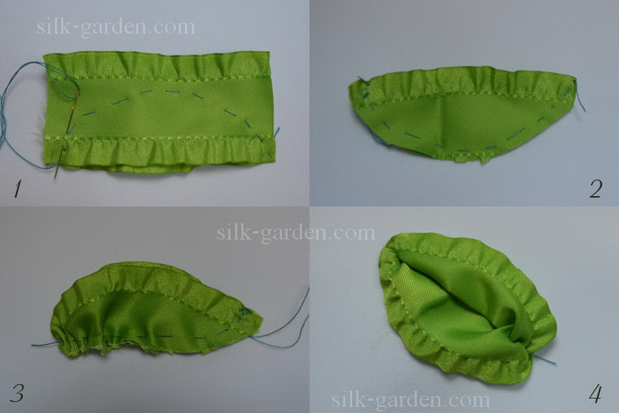 Как сделать листик из ткани своими руками 93