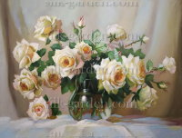 Принт для вышивки лентами розы 770