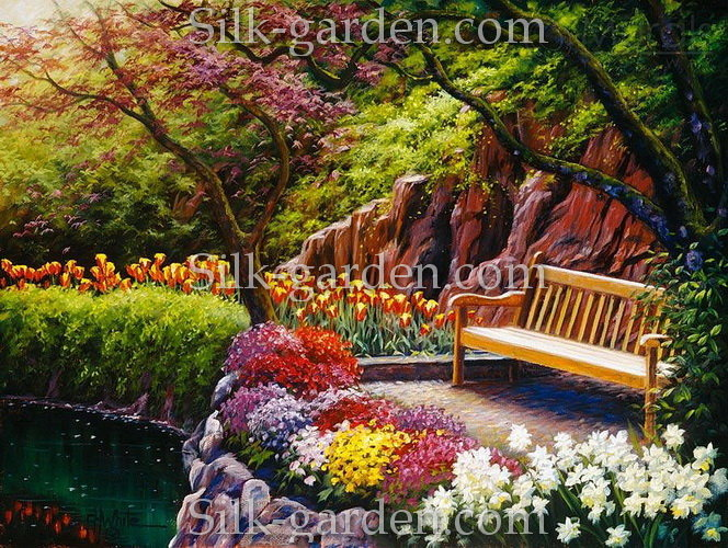 Natural Flower Garden Wallpaper Natural Flower Garden Wallpaper Playful Red Flowers Present In