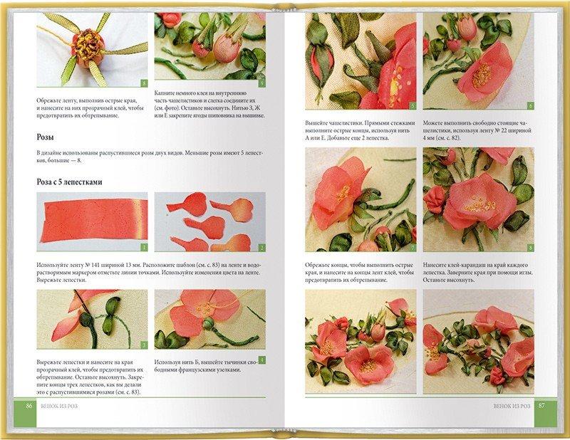 Вышиваем лентами цветы и композиции